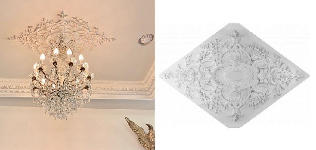 gypsum art Rosace Architecture Ornements   