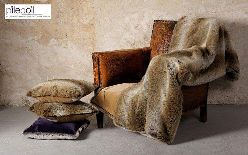 Pilepoil : Fausse Fourrure Plaid Couvre-lits Linge de Maison  |