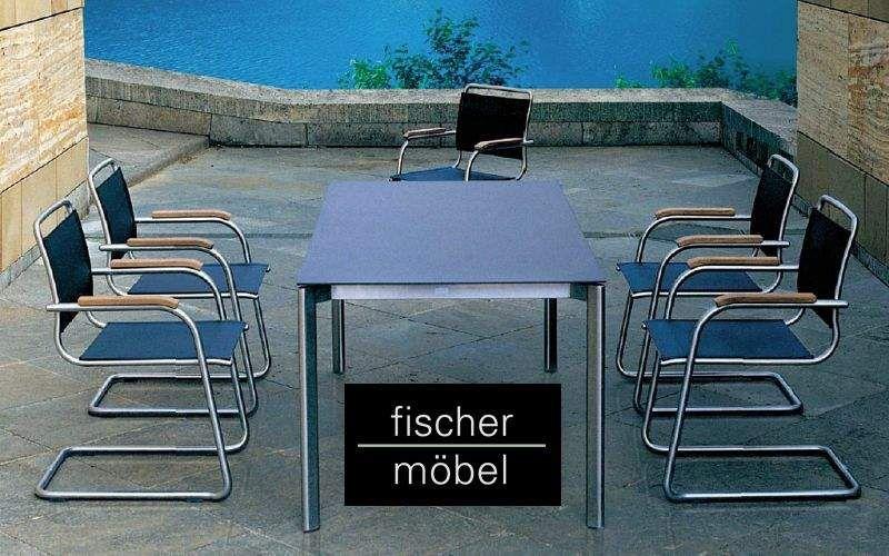 Fischer Mobel Salle à manger de jardin Tables de jardin Jardin Mobilier Terrasse | Bord de mer