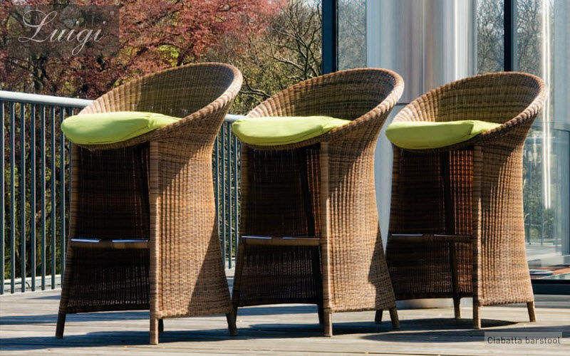 LUIGI Tabouret de bar de jardin Divers mobilier de jardin Jardin Mobilier Terrasse | Charme