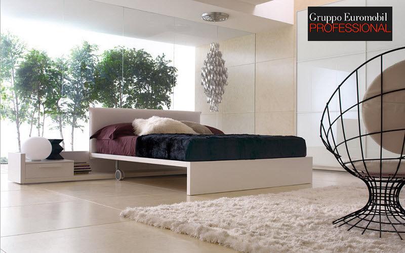 Gruppo Euromobil Lit double Lits doubles Lit Chambre | Design Contemporain