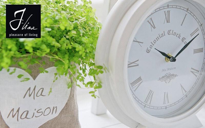 J-line Horloge murale Horloges Pendules Réveils Objets décoratifs  | Charme