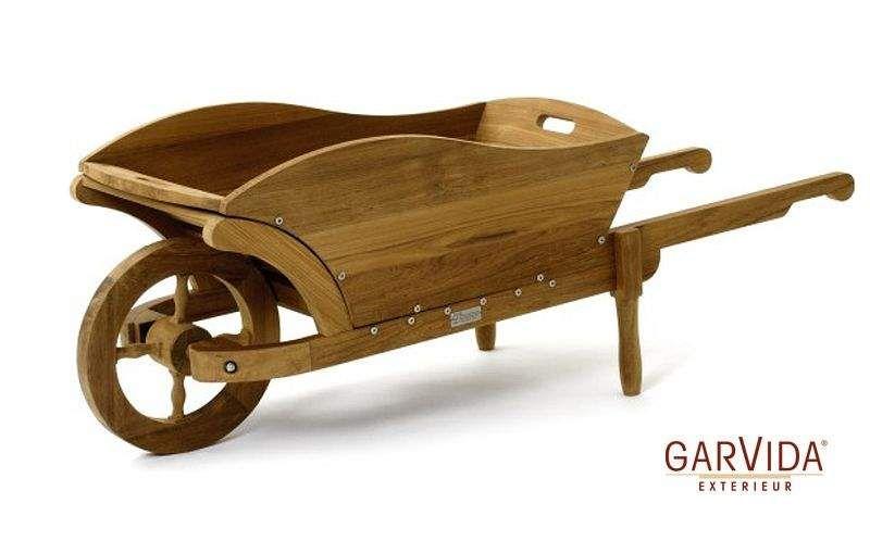 Brouette en bois pour jardin