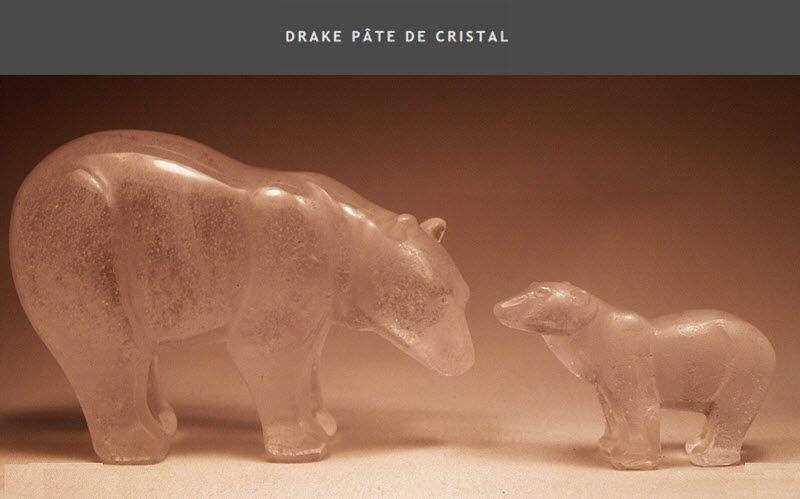 DRAKE PATE DE CRISTAL Figurine Sculptures Statuaires Art  |