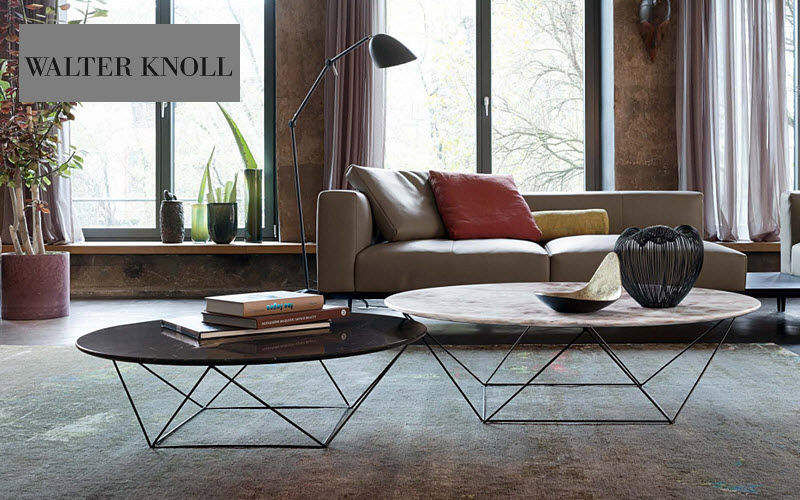 WALTER KNOLL Table basse ronde Tables basses Tables & divers Salon-Bar |