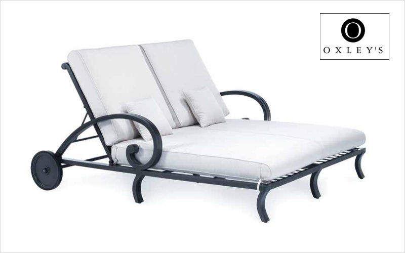 Oxley's Bain de soleil double Chaises longues Jardin Mobilier  |