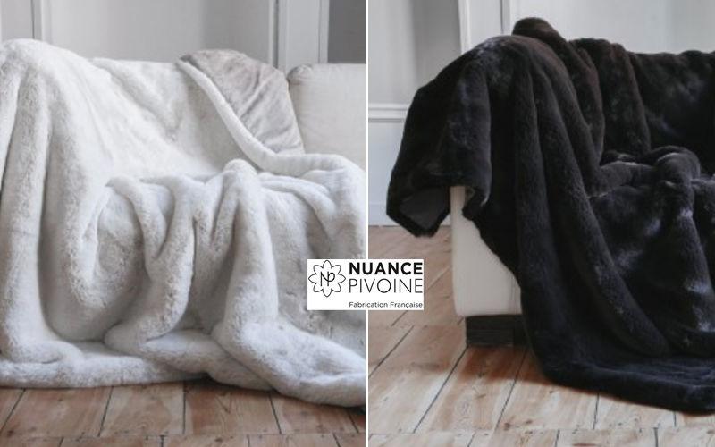 nuance pivoine Plaid Couvre-lits Linge de Maison  |