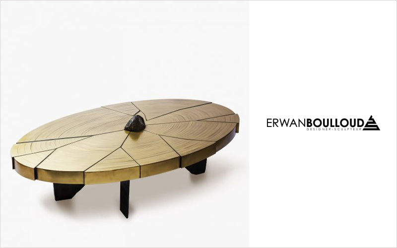 ERWAN BOULLOUD Table basse ovale Tables basses Tables & divers  |