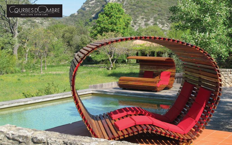 COURBES D'OMBRE Bain de soleil double Chaises longues Jardin Mobilier  |