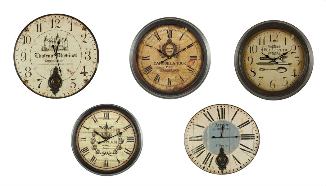 DECORATION D'AUTREFOIS Horloge murale Horloges Pendules Réveils Objets décoratifs  |