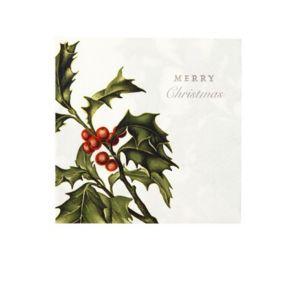 MAPLUSBELLEDECO - houx - Serviette De Noël En Papier