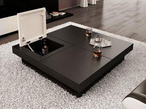 Table basse avec plateau escamotable