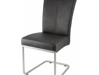 MEUBLES ZAGO - chaise hakone marron - lot de 2 - Chaise