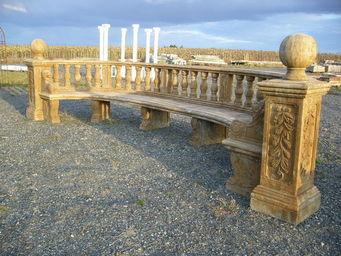 antiquites materiaux anciens deco de jardins -  - Banc De Jardin