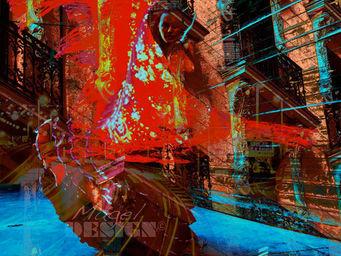 Magel'design - sevillana 120x120 cm , 3d effet relief - Tableau Contemporain