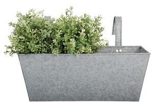 Esschert Design - jardinière en zinc patiné 39,9x16,3x15,9cm - Jardinière