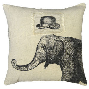 Sugarboo Designs - pillow collection - hat & elephant - Coussin Carré