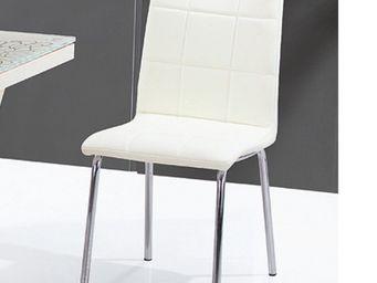 CLEAR SEAT - chaises crème calice lot de 4 - Chaise