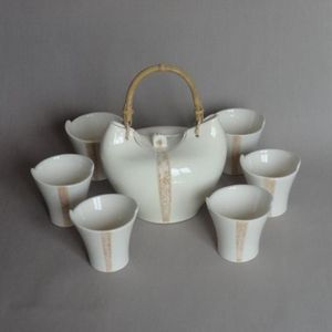 TERRE ET SONGES - mug design faïence blanche - Tasse À Thé