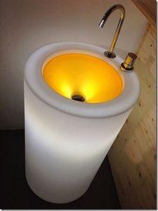 Sopha Industries - fusion ii blanc wet - Lavabo Lumineux