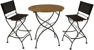 Medicis - ensemble haut table et chaises en fer forg� - Mange Debout