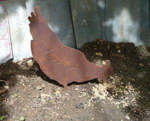OKE DECORATION - poule décorative en métal - Ornement De Jardin