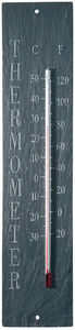 Esschert Design - thermomètre d'extérieur en schiste 10,5x45x0,5cm - Thermomètre
