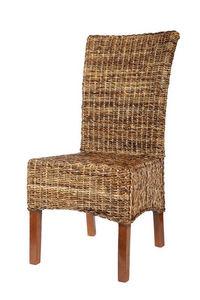 ROTIN DESIGN - chaise elips abaca - Chaise De Jardin
