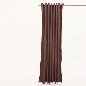 Cosyforyou - rideau aspect lin chocolat - Rideaux Prêts À Poser