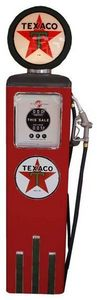 US Connection - pompe à essence texaco rouge/noir - Statue