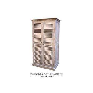 DECO PRIVE - armoire en bois cuba - Armoire À Portes Battantes
