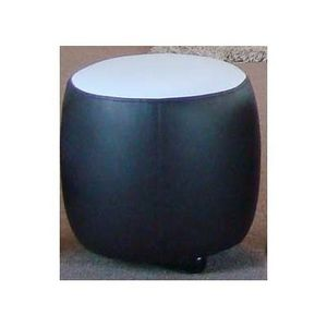 International Design - pouf bicolore rond - couleur - marron - Pouf