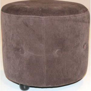 International Design - pouf velours rond chesterfield - Pouf