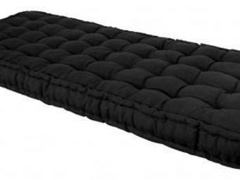 Futon Design - matelas 90 x 190 cm futon noir - Matelas À Ressorts