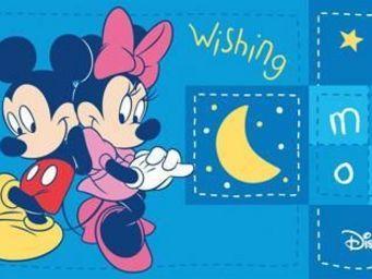 DISNEY - tapis enfants mickey wishing - Tapis Enfant