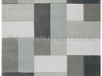 Arte Espina - tapis reflective 4 gris 200x300 en acrylique - Tapis Contemporain