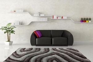 NAZAR - tapis avantgarde 80x150 silver - Tapis Contemporain
