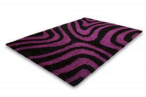 NAZAR - tapis chillout 160x230 black-violet - Tapis Contemporain