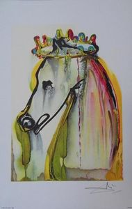 ARMAND ISRA�L - caligula couronn� de salvador dali litho - Lithographie