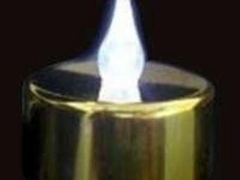 ZEN LIGHT - 12 bougies dorées leds flamme blanche - Bougie Led