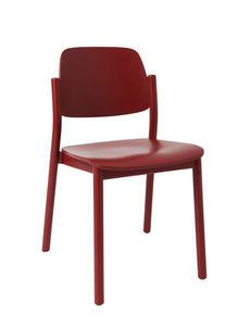 MARCEL BY - chaise april en hêtre rouge brun 49x50x78cm - Chaise