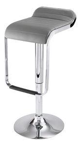 ID'CLIK - tabouret de bar maud gris 36x45x87cm - Chaise Haute De Bar