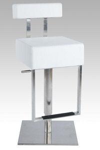 KOKOON DESIGN - tabouret de bar en similicuir blanc rembourré et r - Chaise Haute De Bar
