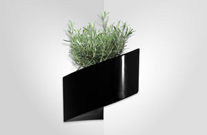 GREEN TURN - jardinière murale noire modul'green 1 module 22x1 - Jardinière Murale