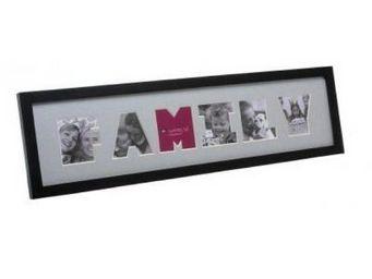 Present Time - cadre photo family bois noir - Cadre Photo
