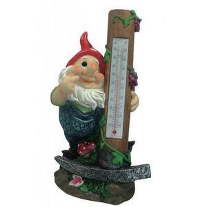 CODEVENT - statuette thermomètre nain de jardin marteau - Nain De Jardin