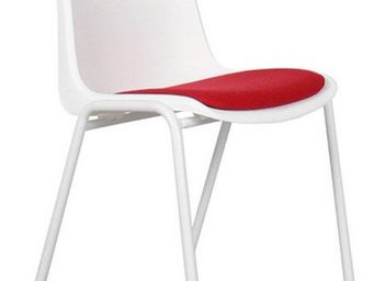 ZUIVER - chaise zuiver back to gym blanche et rouge - Chaise