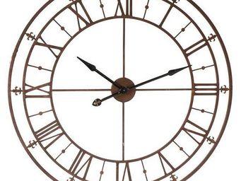Antic Line Creations - horloge d'usine 102cm - Horloge Murale