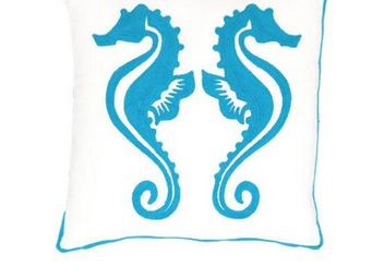 Dash and Albert Europe - sea horse - Coussin Carré