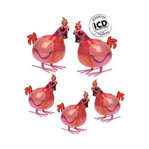 ICD COLLECTIONS - coq valerie formé rose - Animaux De La Ferme (jouets)